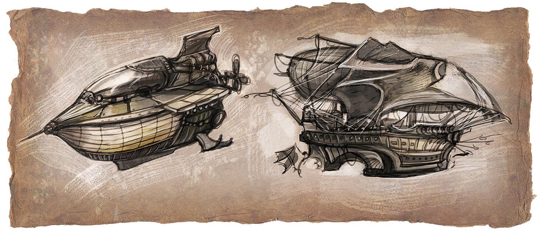 Airship & Diver